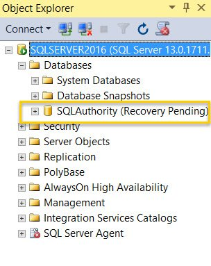 SQL SERVER - Unable to Attach Database - File Activation Failure - The Log Cannot be Rebuilt log-rebuilt-01