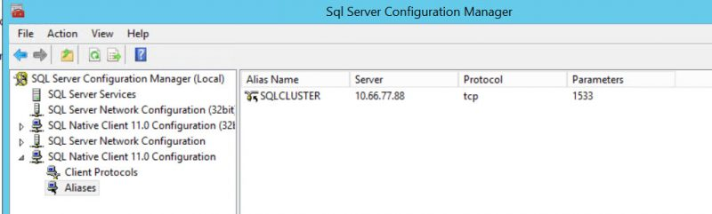 SQL SERVER - Clustered Instance Online Error - SQL Server Network Interfaces: Error Locating Server/Instance Specified [xFFFFFFFF] sql-clus-01-800x241