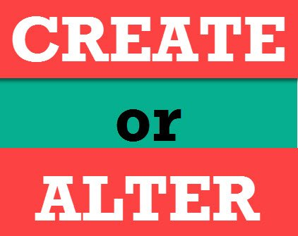 SQL SERVER - CREATE OR ALTER Supported in Service Pack 1 of SQL Server 2016 createalter