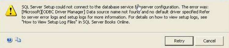 SQL SERVER - Installation Error - [Microsoft][ODBC Driver Manager] Data source name not found and no default driver specified setup-data-source-01