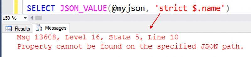 SQL SERVER - Understanding JSON NULL Value Using STRICT Keyword JSON-using-strict-01-800x183