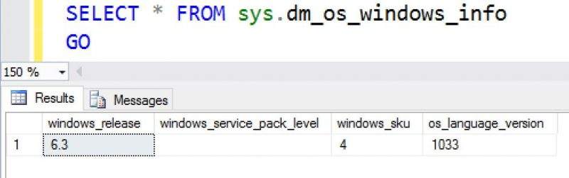 SQL SERVER - SQL Server: Getting OS information using DMV windows-os-info-DMV-01-800x251