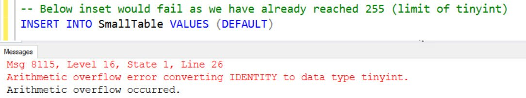 SQL SERVER - FIX : Msg 8115, Level 16, Arithmetic Overflow Error Converting IDENTITY to Data Type INT ident-overflow-01