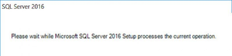 SQL SERVER - Slow Installation Wizard on Cluster - Please Wait While Microsoft SQL Server 2016 Setup Process the Current Operation setup-pls-wait-01-800x193