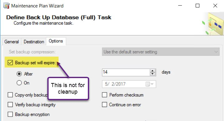 SQL SERVER - Maintenance Plan - Backup Files Not Getting Deleted mp-clean-01