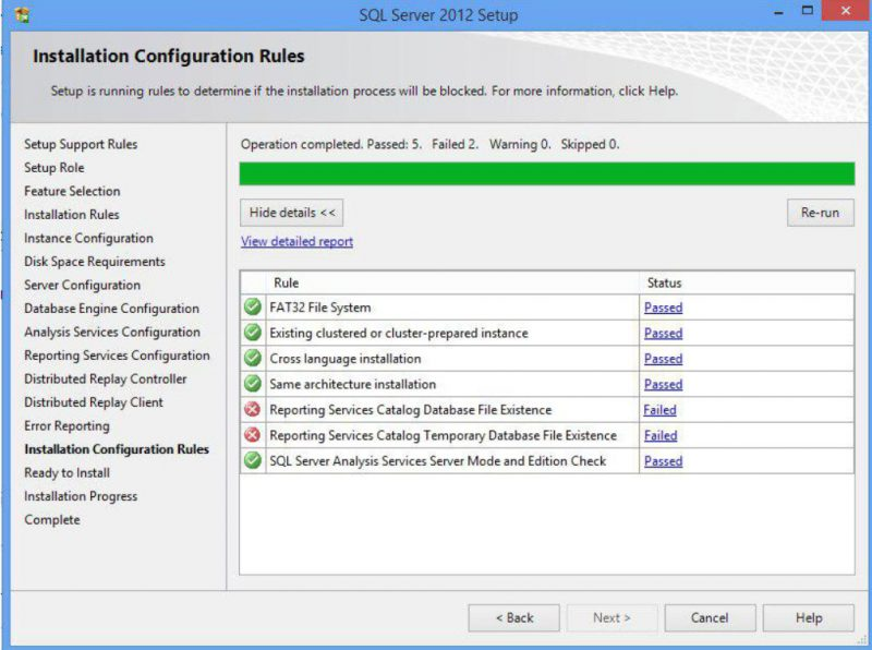 """SQL SERVER - FIX: Rule """"Reporting Services Catalog Database File Existence"""" Failed SSRS-setup-error-01-800x596"""
