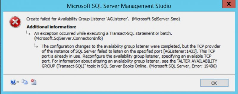 SQL SERVER - AlwaysOn Availability Group Listener – This TCP Port is Already in Use list-port-01-800x318