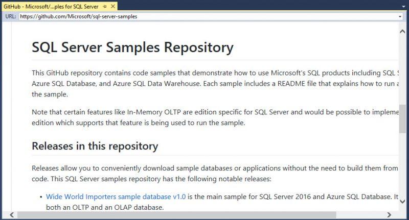 SQL SERVER - How to Get Updated Link for Code and Database Samples? sampledatabases1-800x431