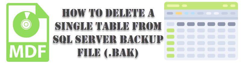 SQL SERVER - How to Delete a Single Table From SQL Server Backup File (.bak) deletetable-800x220
