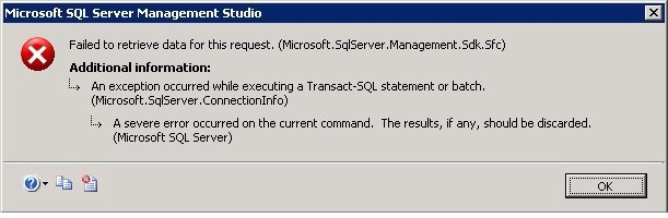 SQL SERVER- Msg 22004, Level 16 - xp_readerrorlog - Failed to Open Loopback Connection. Please See Event Log for More Information xpreaderrorlog-01-1