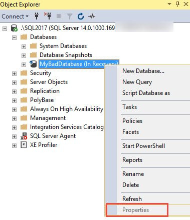 sql server msg 3743 the database is enabled for