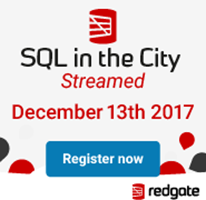 SQL in the City Streamed  - Virtual Event on December 13 2017 sqlincity