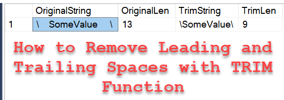 SQL SERVER - 2017 - How to Remove Leading and Trailing Spaces with TRIM Function? trimfunction