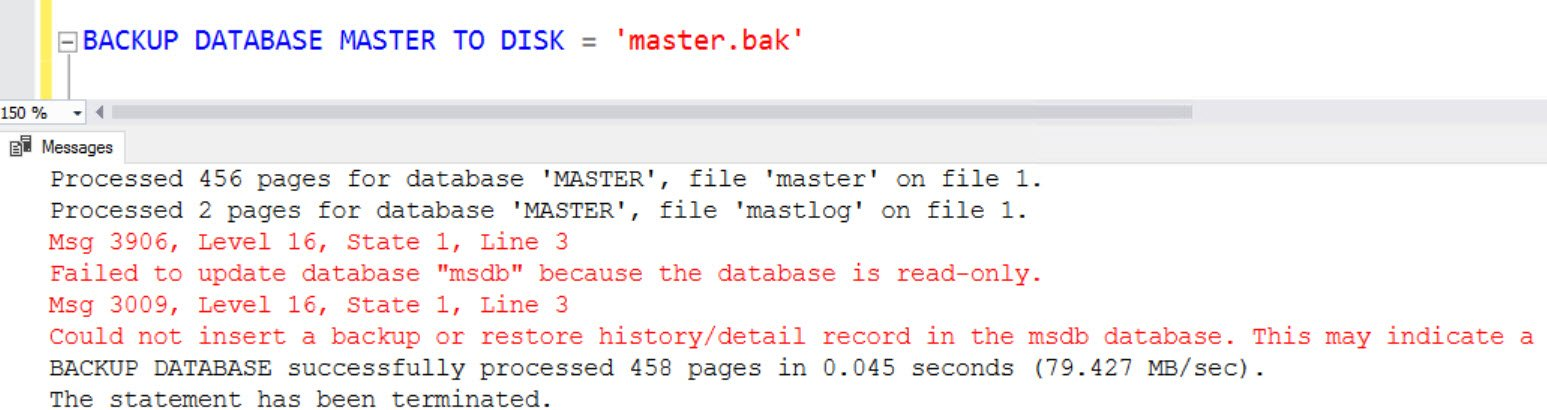SQL SERVER - FIX: Msg 3009 - Could Not Insert a Backup or Restore