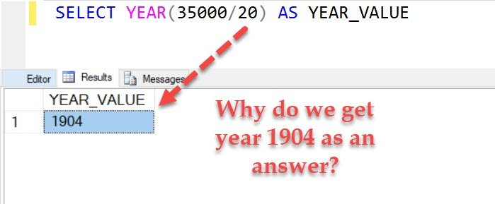 SQL SERVER - Puzzle - How Does YEAR Function Work? puzzleyear1
