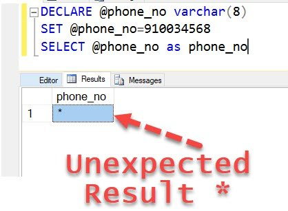 SQL SERVER - Puzzle - SQL Server Stored Procedure and Unexpected Results unexpectedresult