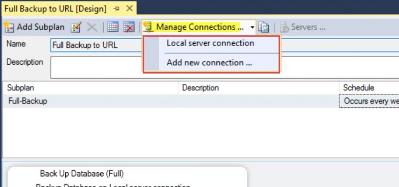 "SQL SERVER - Maintenance Plan Error: Failed to Acquire Connection ""Local Server Connection"". mp-fail-01-800x376"