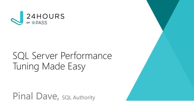 Free Video - SQL Server Performance Tuning Made Easy - SQL