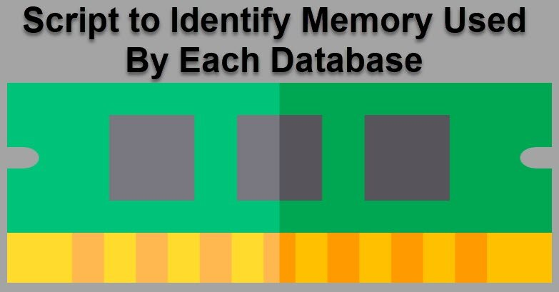SQL SERVER - Script to Identify Memory Used By Each Database memdb
