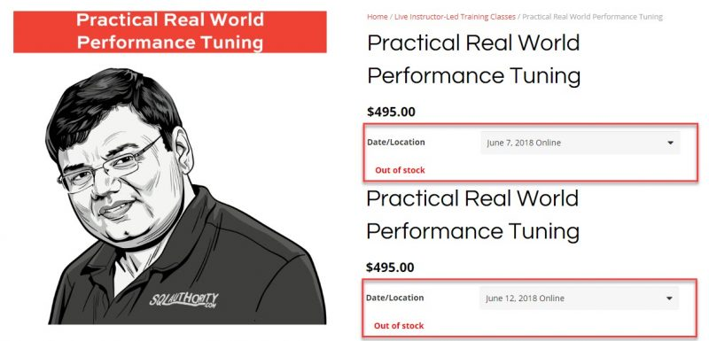 We Are Sold Out - Practical Real World Performance Tuning - SQL Authority News soldout-800x385