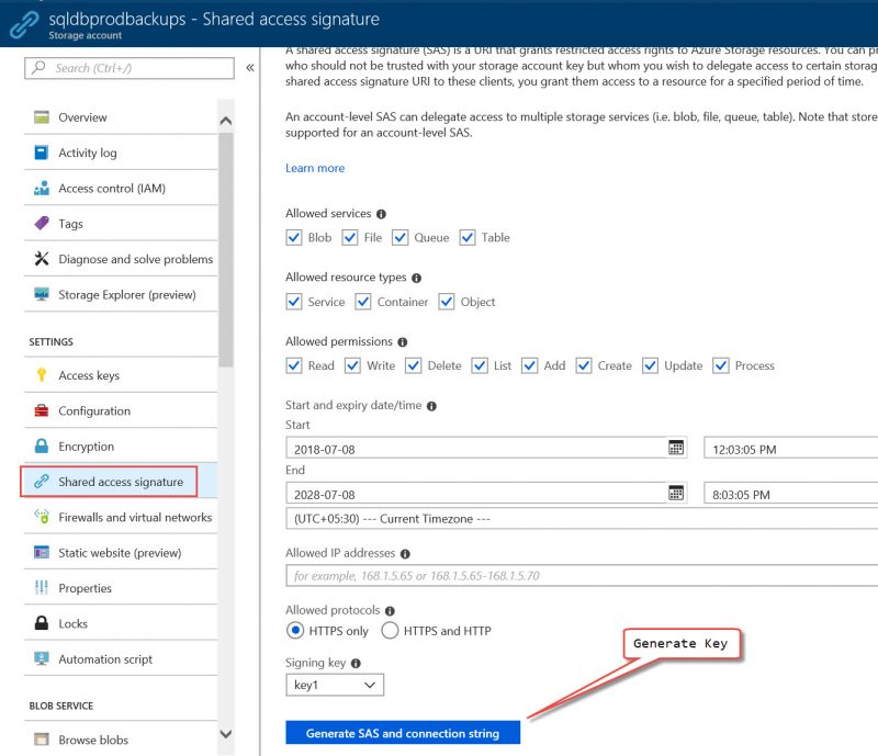 SQL SERVER - Backup to URL - Script to Generate Credential and