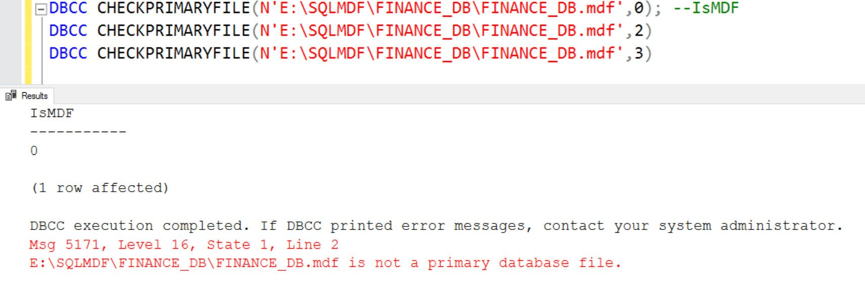 SQL SERVER - Unable to Attach Database Files - The PageAudit Property is Incorrect - Ransomware Attack ran-01