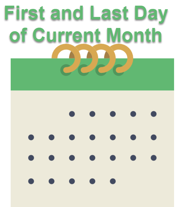 SQL SERVER - Simple Method to Find FIRST and LAST Day of Current Date flmonth