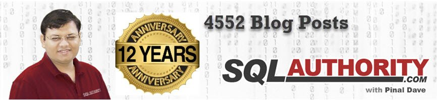 12th Anniversary of SQL Authority - 4552nd Blog Post 12th-1