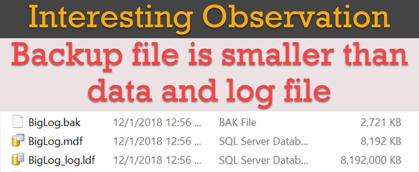 SQL SERVER - Small Backup for Large Database smallbackup