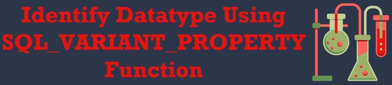 SQL SERVER - Identify Datatype Using SQL_VARIANT_PROPERTY Function variant