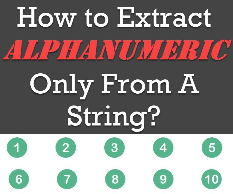 How to Extract Alphanumeric Only From A String? - Interview Question of the Week #214 alphanumeric