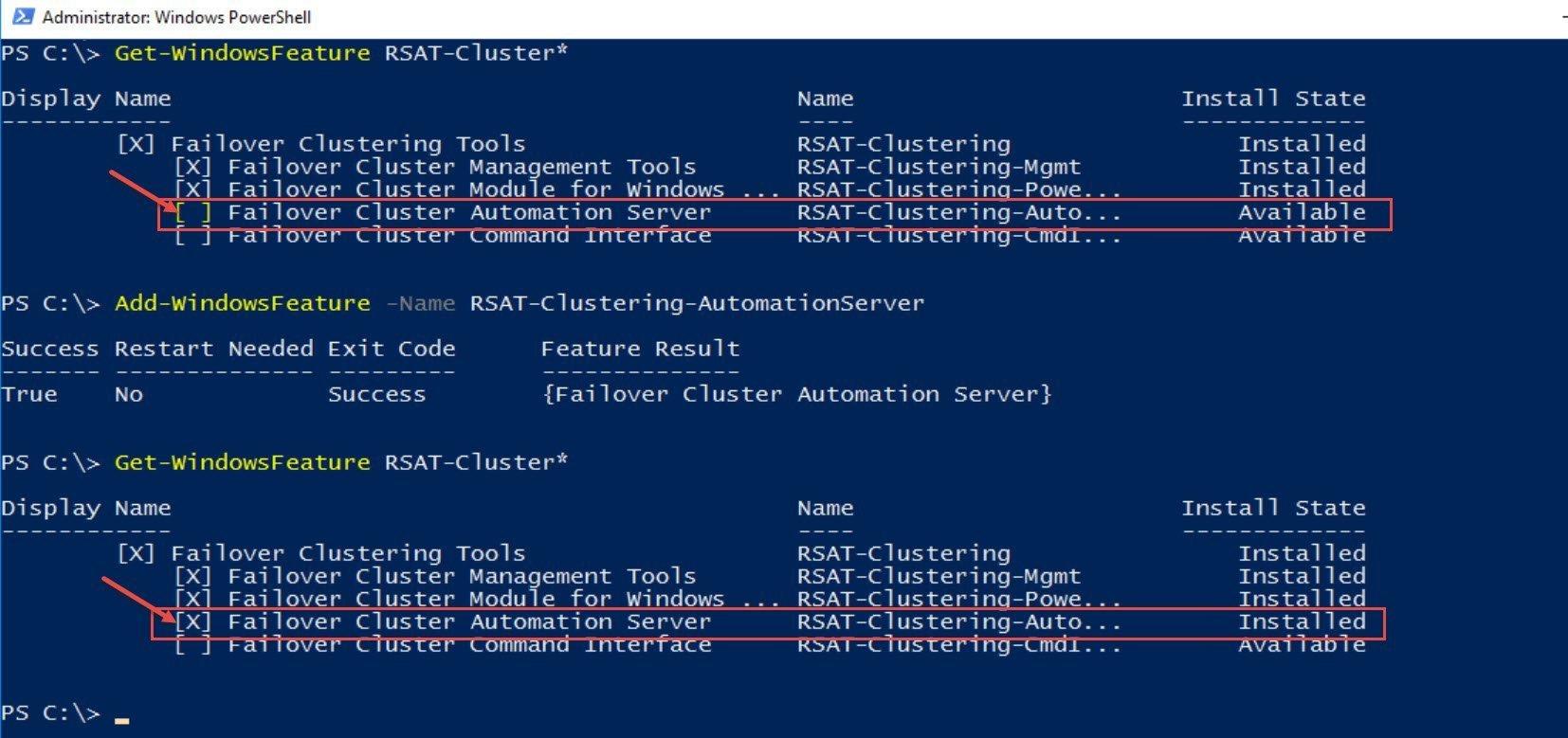 SQL SERVER - Patch Failure - Unable to Retrieve the Cluster Service patch-clus-01