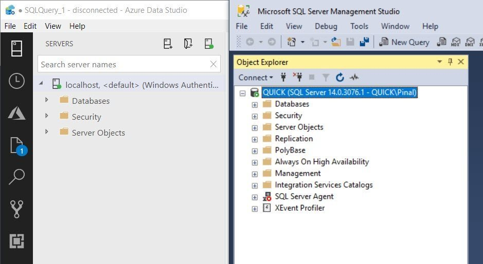 SQL SERVER - Difference Between Azure Data Studio and SQL Server Management Studio adsssms