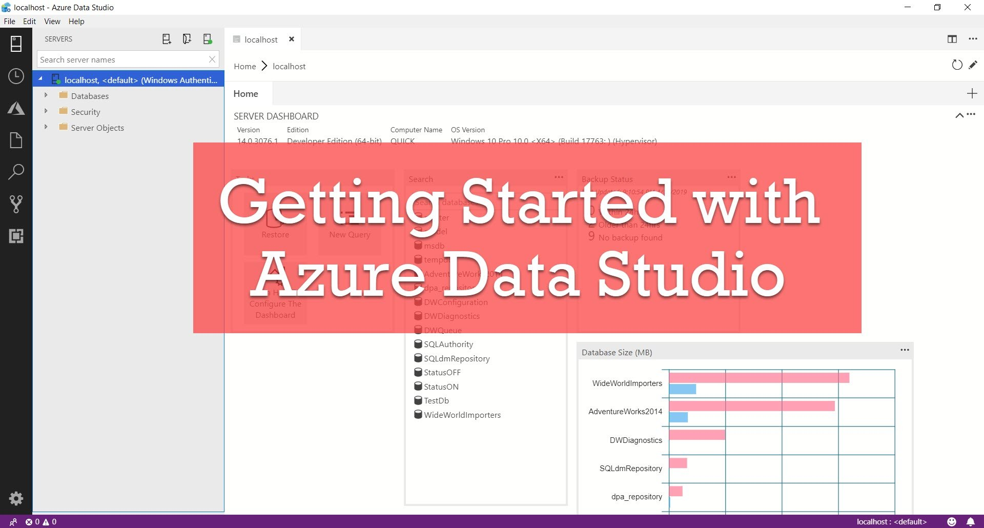 SQL SERVER - Getting Started with Azure Data Studio azuredatastudio