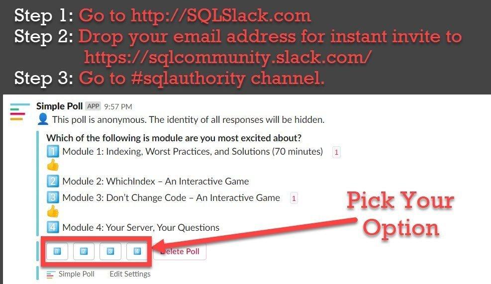 Logistic Step 1: Connecting Via SQL Slack for Server Performance Tuning Practical Workshop for EVERYONE sqlslack