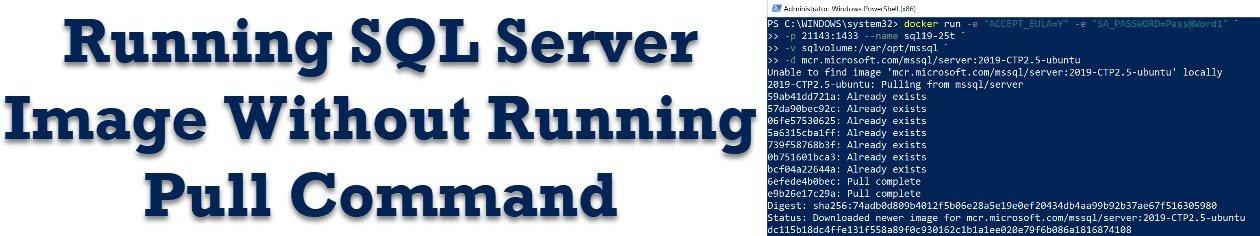 Docker - Running SQL Server Image Without Running Pull