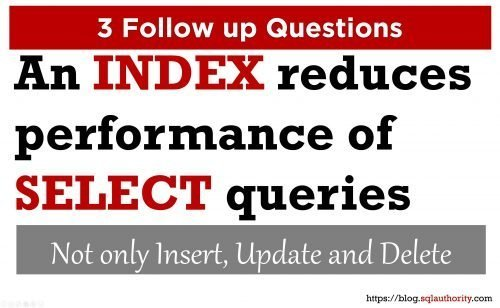 SQL SERVER - 3 Questions: An Index Reduces Performance of SELECT Queries 3coverimage-500x308