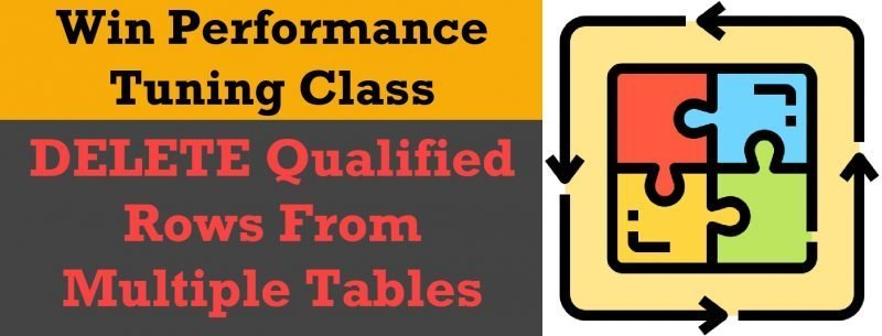 Winners and Solution - DELETE Qualified Rows From Multiple Tables del-puz0-800x305