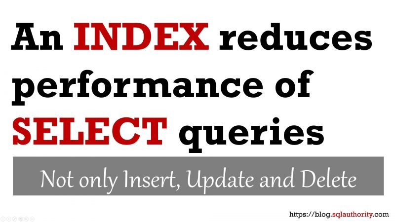 Can an Index Reduce Performance of SELECT Query? - Interview Question of the Week #234 indexperformance-800x450