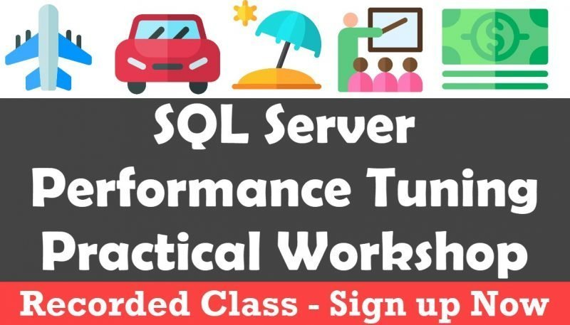 SQL Server Performance Tuning Practical Workshop - Discovery Phase - Online Training performancetuning-800x457