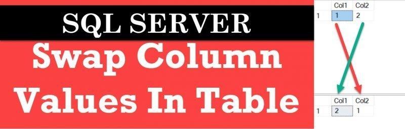 SQL SERVER - Swap Column Values In Table swap-columns-800x256