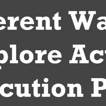 Actual Execution Plans