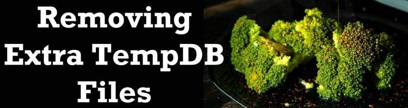 SQL SERVER - Removing Extra TempDB Files tempdbfiles-800x212