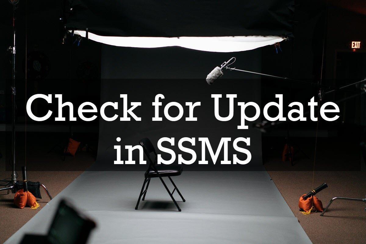 update ssms