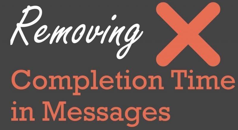SQL SERVER Management Studio - Removing Completion Time in Messages Removing-Completion1-800x437