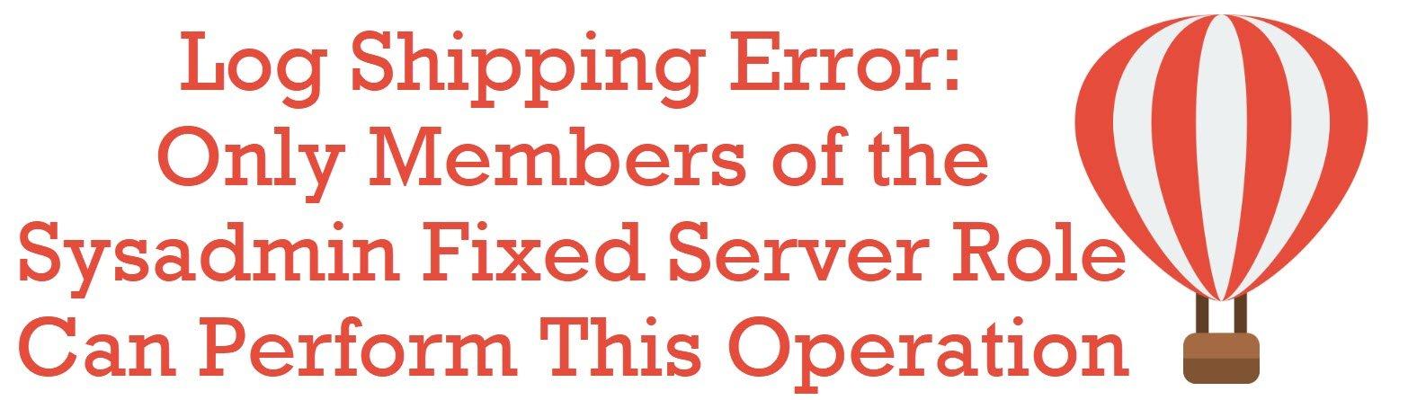 log shipping error