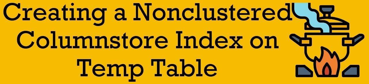nonclustered columnstore