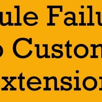 rule failure error
