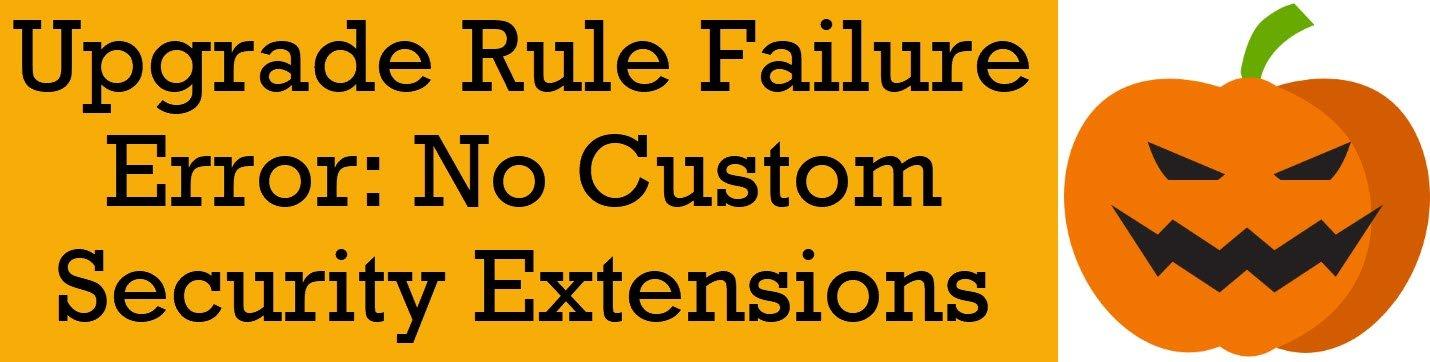 rule failure error