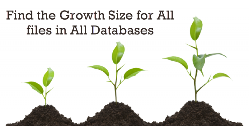 SQL SERVER - Find the Growth Size for All files in All Databases - Part 2 GrowthSize-800x405